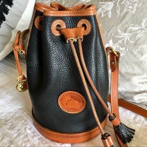 Vintage Dooney & Bourke Leather Bucket Crossbody